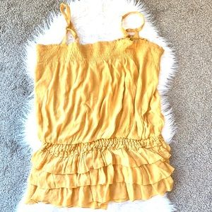 Ashley Stewart Yellow Layered Tank 3X